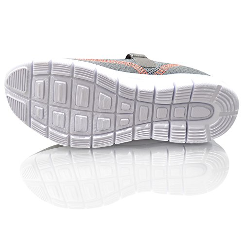Air Tech Mujeres Trainer Slip On Pumps zapato Tiempo Libre Guantes Tamaño gris