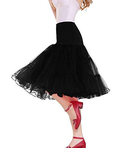 Sarahbridal Women's Plus Size Petticoat Vintage Swing Dress Underskirt Tutu Skirt (Short Tutu Dress)