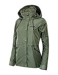 Columbia Women's Base Camp Short Soft Shell Spring / Fall Hooded Jacket OLIVE (xlarge)