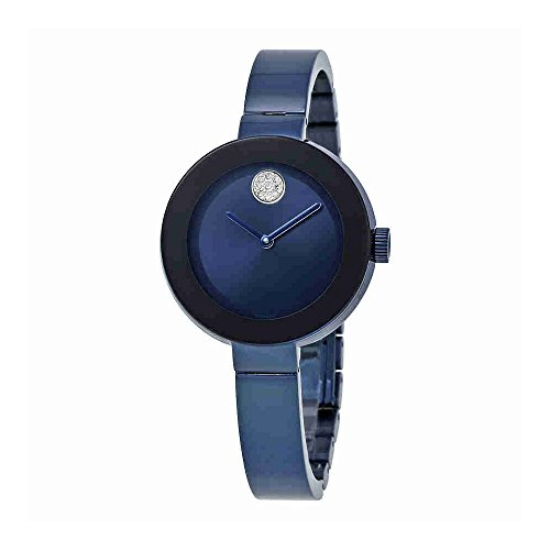Movado Bold Blue IP Stainless Steel Ladies Watch 3600425