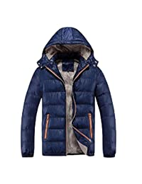 Freely Mens Hooded Outwear Coat Packable Loose Cotton Wadded Jacket