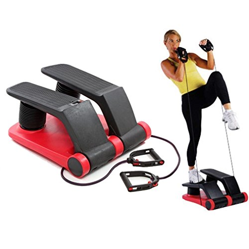 FISOUL Air Stepper Climber Exercise Fitness Thigh Machine for Home Workout Gym (red & Black) ()