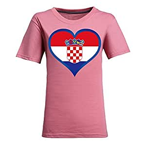 Brasil 2014 FIFA World Cup Theme Short Sleeve T-shirt,Football Background Womens Cotton shirts for Fans Pink
