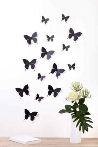 Pegatinas de Mariposas 3D Negras
