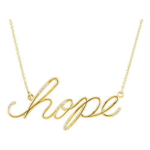- 14K Yellow Gold 0.08 CTW Diamond Hope 16