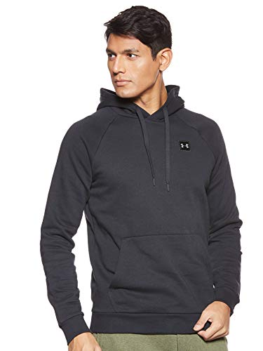 Under Armour Men's Rival Fleece Hoodie, Black (001)/Black, Medium