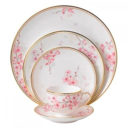 Wedgwood Spring Blossom 5 Piece Place Setting White  sc 1 st  Amazon.com & Amazon.com | Wedgwood Spring Blossom 5 Piece Place Setting White ...