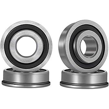 Amazon.com: Rodamientos de bolas con brida de 5/8 pulgadas x ...