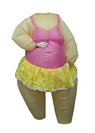 Vinyl Womens Costume Accessories 708820A Inflatable Ballerina Adult Halloween Costume Blowup Ballet Dancer Pink