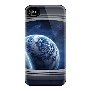 New Customized Design Space Window For Samsung Galaxy S6 Case Cover Comfortable For Lovers And Friends For Christmas Gifts