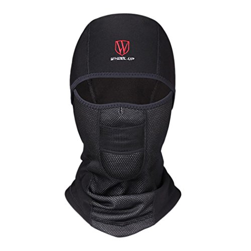 RNTOP_Swimwear Face Mask Neck Cap Breathable Windproof Cycling Dustproof Domino Cap Black (C) (Bandage Full Face)