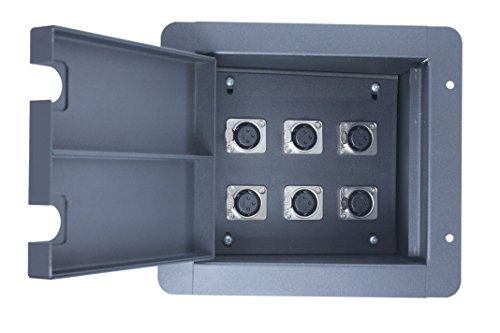 Pro Audio Recessed Stage Floor Pocket Box Black (6-xlr (Xlr Floor Box)