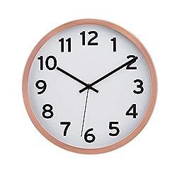 AmazonBasics 12 Numbered Wall Clock, Copper