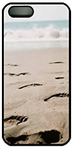 Beach View Footsteps Theme Hard Back Cover Case For Iphone 5 5S