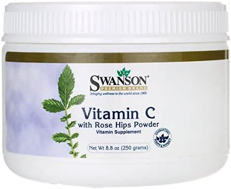 Swanson Vitamin C with Rosehips Powder 8.8 Ounce (250 g) Pwdr