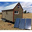 TINY HOUSE 1200W OFF GRID SOLAR POWER SYSTEM - MEDIUM BASE KIT (House not Included)