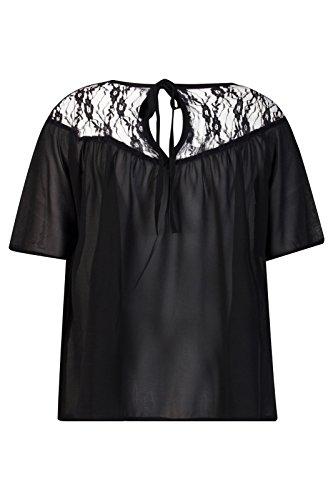 Beauty7 Encaje Florales Hueco Camisetas Mujer Verano Flojo Suelto Mangas Corta Cuello Redondo T Shirt Camisas Parte Superior Tops Tee Elegante Casual Ropas Negro