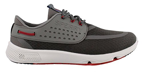 Sperry Men's, 7 Seas America's Cup Boat Shoes Grey Red 9.5 (Americas Cup)