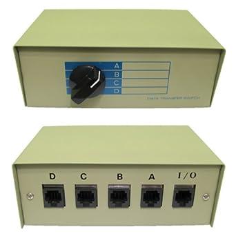 4 Way RJ45 Network Switch Box - Ethernet - LAN - red - Manual ...