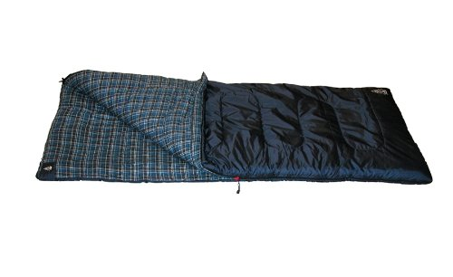 Woods Hi-Loft 3-Pound Sleeping Bag (20-Degree Fahrenheit), Navy, Medium, Outdoor Stuffs