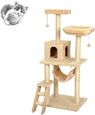 Cat tree Árboles para Gatos Quality Cat Escalada Marco Cómodo Cat Litter Cat Grande Sisal Cat