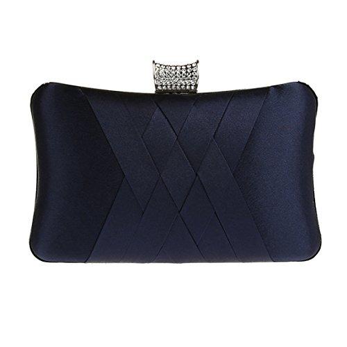 Et Des Main Pour Bleu Sac Fête À Simple Élégant Foncé Ankoee Dames 1qwIn8pxn