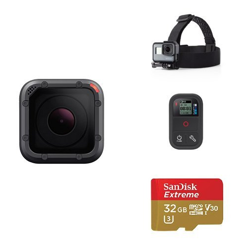 GoPro HERO5 Session w/ Remote, Head Strap and Memory Card by