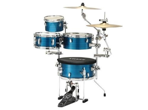 Tama Cocktail-JAM Mini 4-Piece Shell Pack with Hardware, Harline Blue