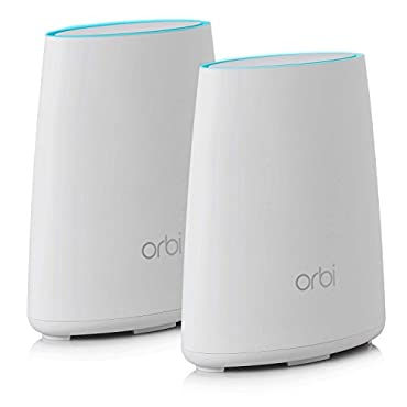 NETGEAR Orbi Home WiFi System: AC2200 Tri-Band Home Network with Router & Satellite Extender for up to 4,000sqft of WiFi coverage (RBK40) Works with Amazon Alexa