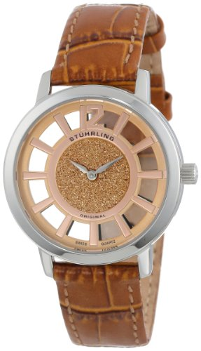 Stuhrling Original Women's 388LS.03 Classic Winchester Edinburgh Swiss Quartz Beige Leather Strap Watch