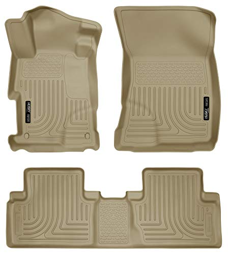 Husky Liners Front & 2nd Seat Floor Liners Fits 12-13 Civic 4 Door