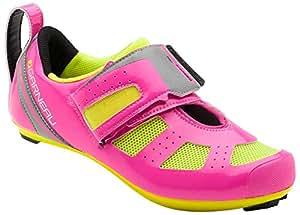Louis Garneau Women's Tri X-Speed 3 Triathlon Bike Shoes, Pink Glow/Bright Yellow, US (6), EU (36)