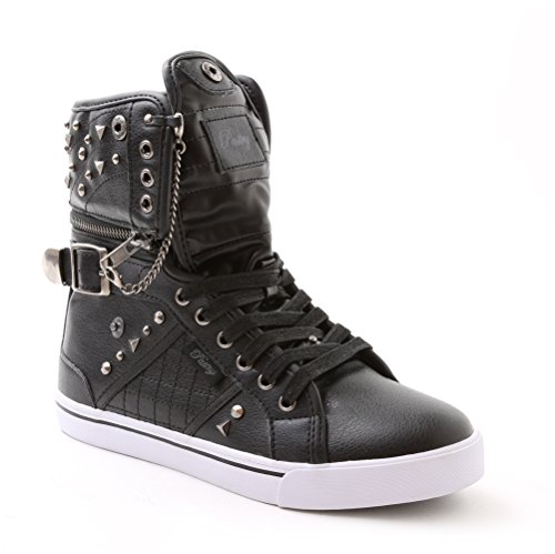 Pastry Sugar Rush Adult High-Top Sneaker & Dance Shoe, Hardware & Stud Detail Black - Pastry High Tops