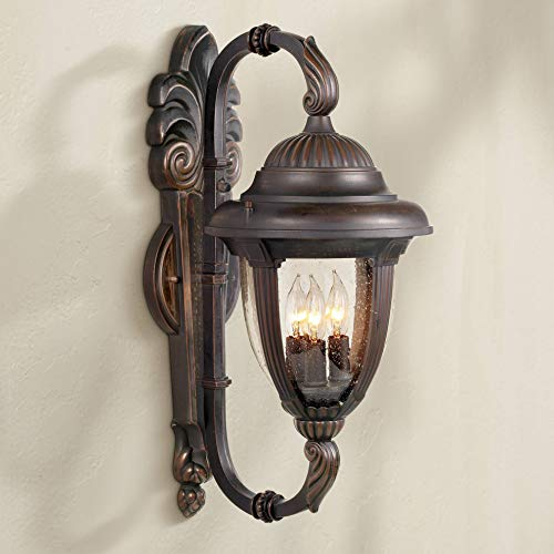 (Casa Sierra Traditional Outdoor Wall Light Fixture Bronze Double Arm 21 1/2
