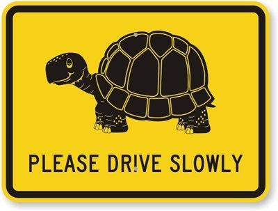 Please Drive Slowly Sign (with, High Intensity Grade Reflective Sign, 80 mil Aluminum, 18