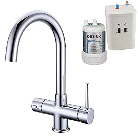 Dbs Chrome Instant Hot Boiling Water Kitchen Tap 3 In 1 Cold Water
