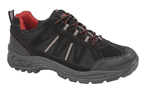 Para hombre Negro Ghillie para senderismo zapatos, de senderismo Caminar Zapatos