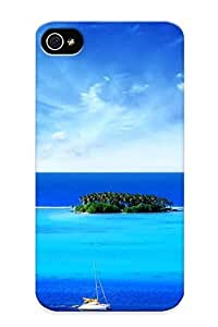 Fireingrass Case Cover Ocean Tropical Islands Boats Vehicles / Fashionable Case For Iphone 4/4s