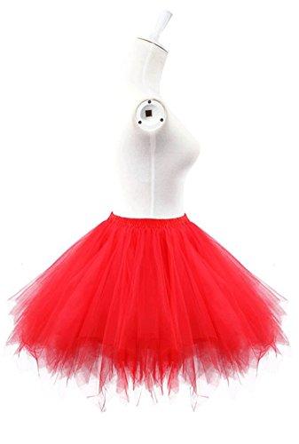 Ellames Jupon Carnaval annes en tulle 50 Petticoat vintage ballet Bleuclair Jupe tutu 1Z1xwdrq