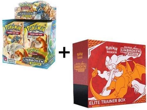 Pokemon Unbroken Bonds Sun & Moon Booster Box + Elite Trainer Combo! 44 Packs + More!