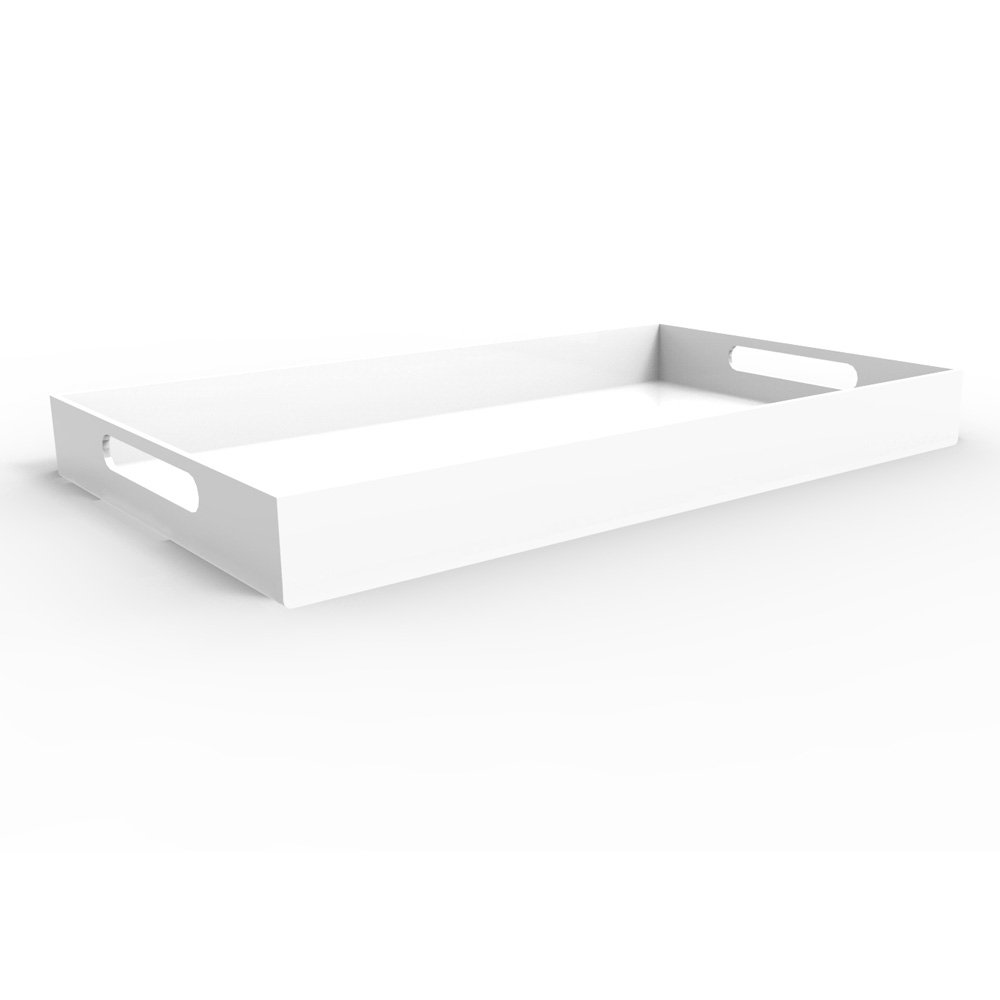 White Serving Tray Bright White 20 Quot Large Acrylic Tray
