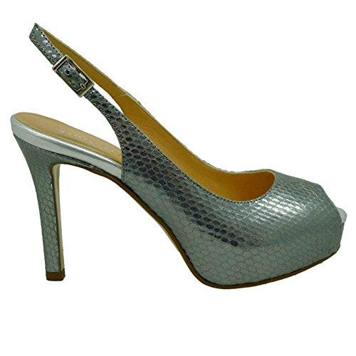 19425 Miralles Metal Acero Fiesta Zapato Pedro Serpiente Para OxwX4g