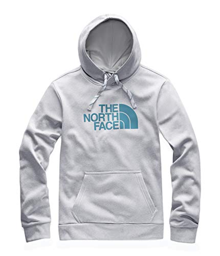 The North Face Men's Surgent Pullover Half Dome Hoodie 2.0, TNF Light Grey Heather/Crystal Teal, Size L ()
