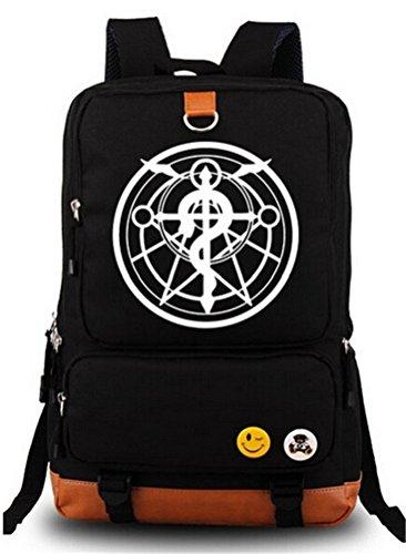 Siawasey Fullmetal Alchemist Anime Cosplay Canvas Bookbag Backpack Shoulder Bag School Bag - Bag Alchemist Metal Messenger Full