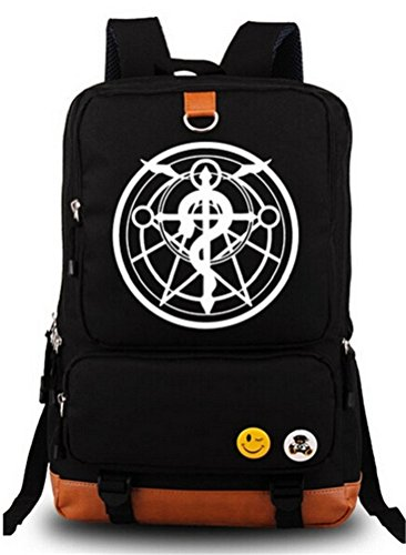 Siawasey Fullmetal Alchemist Anime Cosplay Canvas Bookbag Backpack Shoulder Bag School Bag