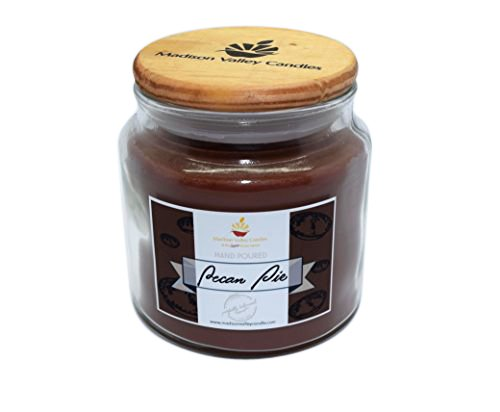 (Madison Valley Soy Candle Company Strong Scented Pecan Pie Wood Wick Soy Candle 16oz)