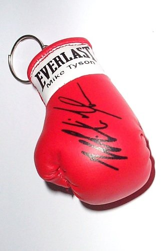Autografiada Mini llavero guante de boxeo Mike Tyson: Amazon ...