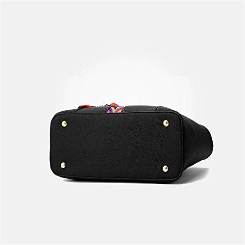 GWQGZ À Noir Sac Satchel Simple Facile Unique De Sacs De Capacité Et Bandoulière Américaine Et Grande Black Mode À Main Européenne HHFrnWBS