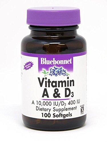 - BLUEBONNET NUTRITION VITAMIN A & D3 10,000 IU/400 IU