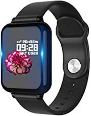 Bluetooth Smart Watch,Health & Fitness Tracker Smartwatch Blutdruck-Aktivitätsuhr, Anrufe SMS Benachrichtigung Fernbedienung Kamera Musik für iOS Android Handy
